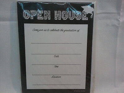 GRADUATION OPEN HOUSE INVITATION ANOUNCEMENTS PARTY 12 COUNT WITH ENVELOPES  Graduation Open House