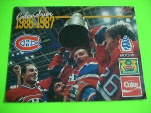Ancien calendrier mural des Canadiens de Montréal 1986-1987
