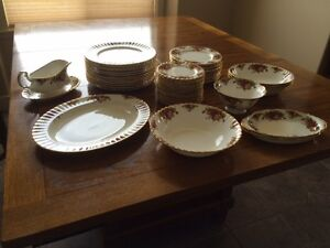 Royal Albert  Old Country Rose Set of 12 with MANY extras