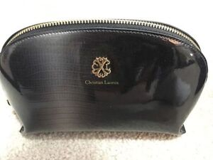Christian Lacroix grey makeup bag pouch