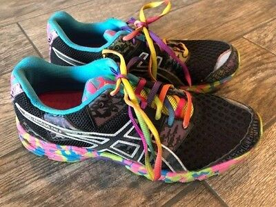 Women's Asics Gel-Noosa Tri 8 T356N Rainbow Holographic Running Sneakers Sz 9