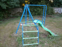 Childrens playground climbing frame, swing, bars and chute. REDUCED TO SELL
