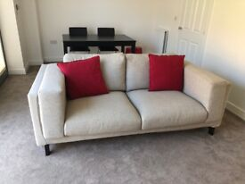 NEW Two-seat sofa NOCKEBY- DARK BEIGE