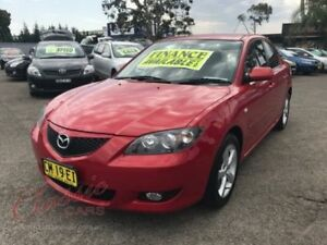2005 Mazda 3 BK Neo Red 4 Speed Auto Activematic Sedan Lansvale Liverpool Area Preview