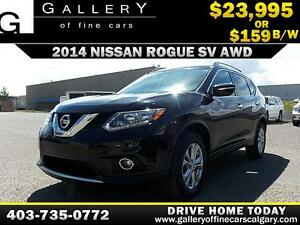 2014 Nissan Rogue 2.5SV AWD $159 bi-weekly APPLY NOW DRIVE NOW