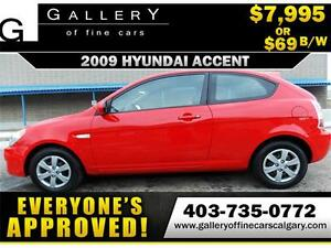 2009 Hyundai Accent SE $69 bi-weekly APPLY NOW DRIVE NOW