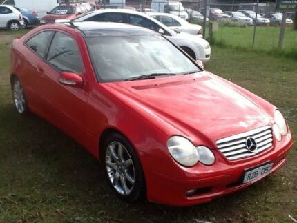 2002 Mercedes-Benz C180 Kompressor CL203 MY2003 Sports Red 5 Speed Automatic Coupe Hastings Mornington Peninsula Preview