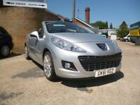 PEUGEOT 207 CC 1.6 Convertible finished in Silver Metallic