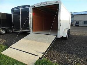 7x14 Enclosed Cargo trailer with ramp. $50/payment!