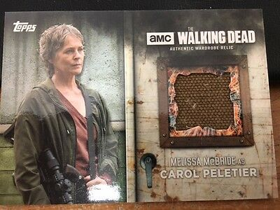 2017 Topps Walking Dead Season 6 Carol Costume Relic Card Screen Worn Jacket