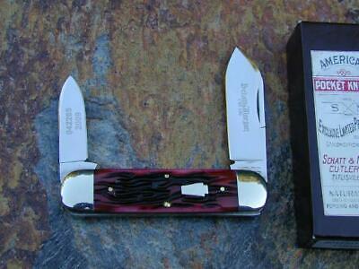 SCHATT & MORGAN QUEEN KEYSTONE CRIMSON BABY SUNFISH TOENAIL KNIFE RARE 1/100 MIB
