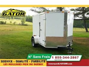 2019 GATOR FERMÉE V-NOSE 6X8 SIMPLE ESSIEU