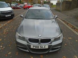BMW 3 SERIES 3.0 325D M SPORT 4d AUTO 195 BHP (grey) 2009