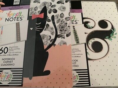 2 The Happy Planner Happy Notesnotebook 60 Sheetsblack Catdesign Green Leaves