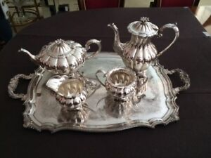 Antique 5 PC Silverplate Tea/Coffee Set, Made in England