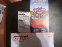 THREE ALTON TOWERS TICKETS FOR SATURDAY 20TH MAY 2018 ADMITS ADULT OR CHILD