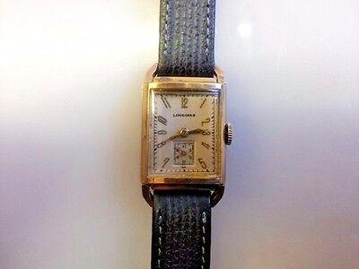 Longines 17 Jewel 9LT 10K Gold Filled Art Deco Wrist Watch