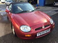 MG MGF convertible, starts and drives well, MOT until July 2018, car located in Gravesend Kent, no l