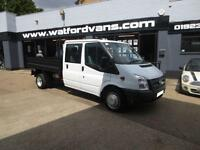 2014 Ford Transit T350 2.2TDCi Double Cab Tipper Diesel white Manual