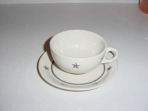 "SS UNITED STATES LINES  ""Lamberton China Co."" Cup & Saucer  /  Perfect Condition"