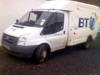 2008 Ford Transit T350 90 MWB Engineers Box Van for Auction