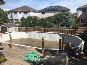 33' x 18' Above Ground Pool (needs liner)