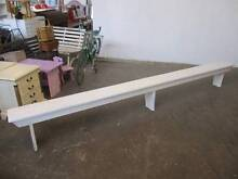 B46035 Long White Timber Bench Seat Pew Mount Barker Mount Barker Area Preview