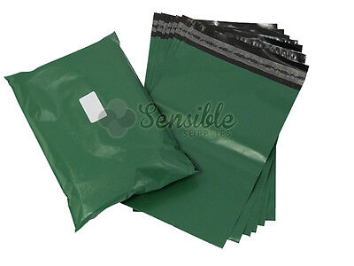 100x GREEN Mailing Postal Postage Mail Bags 12