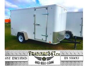 """6X12FT CARGO - FULLY WELDED, 15"""" RADIALS, 24"""" STONEGUARD"""