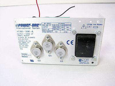 Power-one Htaa-16w-a Linear Regulated Triple Output Dc Power Supply 15v 400ma