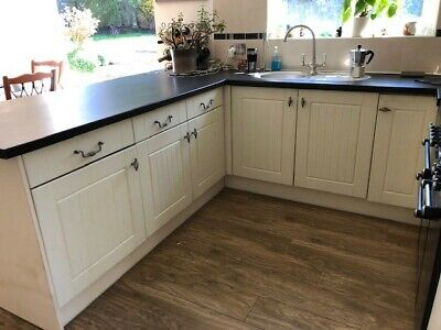 Second hand Shaker style kitchen/utility room units in good condition for age.
