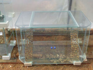 New 112 Gallon Terrarium with Sliding Doors
