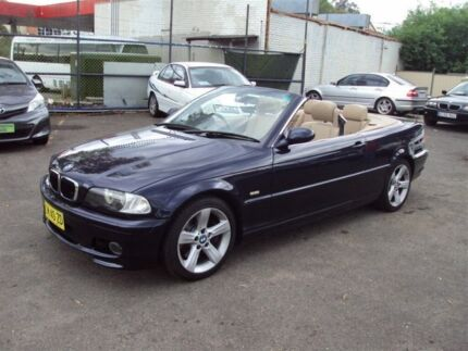 2002 BMW 330CI E46 Dark Blue 5 Speed Auto Steptronic Convertible