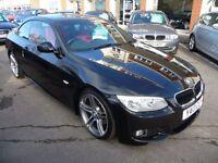 BMW 3 SERIES 2.0 320D M SPORT 2d AUTO 181 BHP (black) 2013