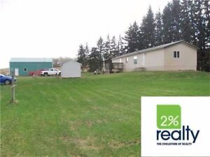 Great Location Treed Acreage W/ House & Shop Zoned AG-2% Realty