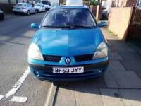 2003 Renault clio , 83,000 miles , mot November