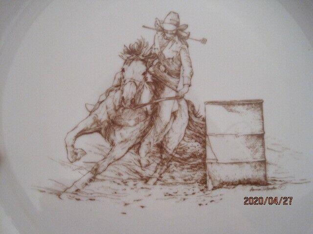 Ann Chapman Barrel Rider Plate,10 1/2 diameter