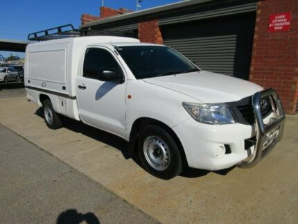 2012 Toyota Hilux TGN16R MY12 Workmate White 5 Speed Manual Cab Chassis Gilles Plains Port Adelaide Area Preview