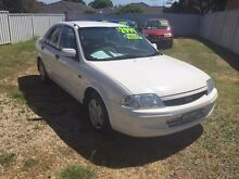2000 Ford Laser KN LXI White 5 Speed Manual Sedan Belmont Lake Macquarie Area Preview