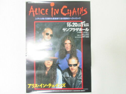 Alice in Chains 1993 Japan Tour Promo Poster AIC Jerry Cantrell Layne Dirt Era