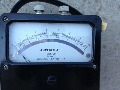 Analog Ac Ampere Meter Rang 0 - 5a 0-10a Weston Electrical Instrument