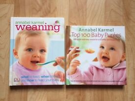Annabel Karmel Weaning and Annabel Karmel Top 100 Baby Purees Hardcover books