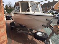 MARINER 16FT FISHING BOAT WITH 2014 EVINRUDE ETEC ENGINE
