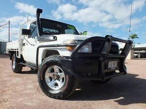 2008 Toyota Landcruiser VDJ79R Workmate White 5 Speed Manual Cab Chassis Rosslea Townsville City Preview