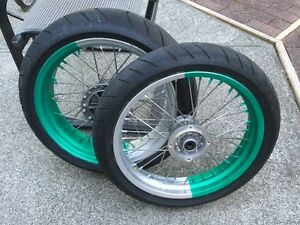 KLX650 Supermoto Wheels