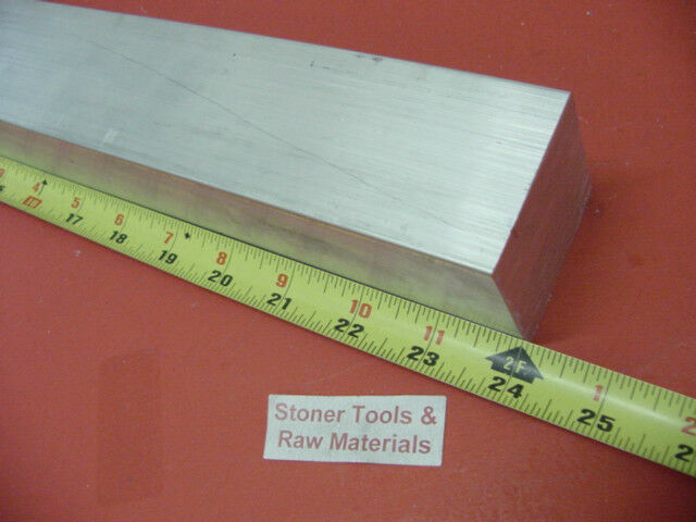 "1-1/2"" X 1-1/2"" ALUMINUM 6061 T6511 SQUARE FLAT BAR 24"" long 1.500"" Solid Stock"