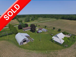 SOLD Country Living Income S of Tillsonburg.Shop,Pond&Greenhouse