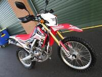 HONDA CRF 250L 2014 ELECTRIC START ROAD REG'ED FUEL INJECTION ENDURO BIKE
