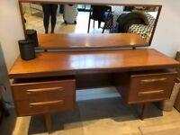 Vb Wilkins for G Plan Teak & Walnut floating desk/dressing table