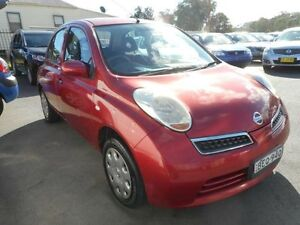 2007 Nissan Micra K12 City Collection Roma Red 4 Speed Automatic Hatchback Edgeworth Lake Macquarie Area Preview